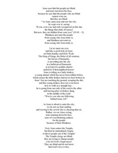 """""""Love Is Not Blind,"""" Palm Sunday Sermon by Larry Hastings """"Love Is not blind"""" Poem by Macrina Wiederkehr, used with permission"""