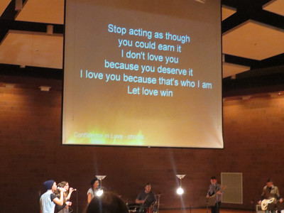 Jon Thurlow - Confidence in Love http://youtu.be/0PM_PqXhtgE  http://soarworship.tumblr.com/post/52235675502/confidence-in-love-jon-thurlow It's okay to believe, open up and receive I want you to have confidence in My love  It's okay, it's good and right To believe in my love  Stop acting as though you could earn it I don't love you 'cause you deserve it I love you because that's who I am Let love win  Lord, I know You love me Yes, I know You love me Lord, I know You love me Right here, right now, right here, right now  No one loves you like I love you No one loves you like I do
