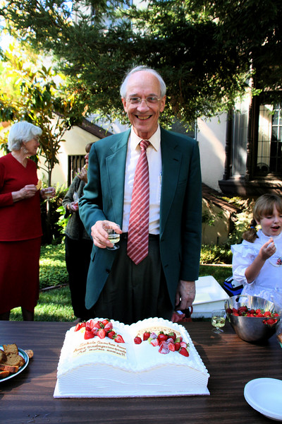 Prof. Mahrt with the 44th anniversary cake  copy