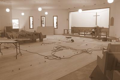 New flooring goes under carpet