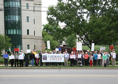 Rally For The Sisters at the USCCB Headquarters D.C.