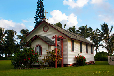 St. Joaquin Church, North Shore, Punalu'u, O'ahu, Hawai'i - January 28, 2011