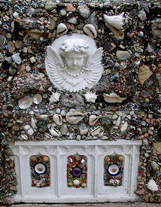 Example of sea shell material used in shrine construction.