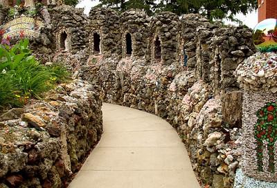 Saints walkway.