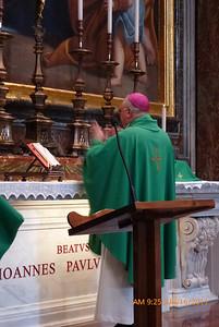 Blessed Pope John Paul's tomb is in the Chapel of St. Sebastian.