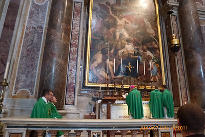 Bishop Morlino celebrates Mass at tomb of Blessed Pope John Paul the Great