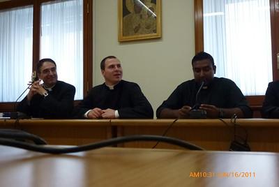 Fr. Pablo Gadenz, Chris Gernetzke, Justin Pulikunnel