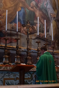 This is the altar of St. Peter curing the paralytic man.