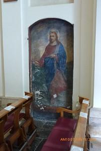 """Fresco in the """"Quo Vadis"""" church."""