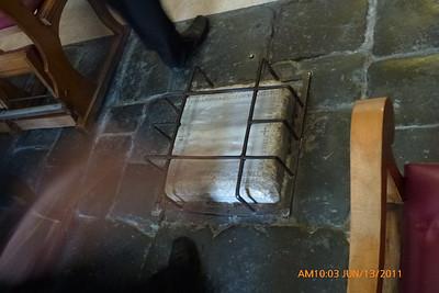 Stone with imprints of Jesus' feet.