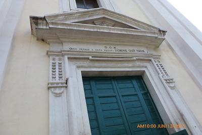 """Door of the """"Quo Vadis"""" Church"""