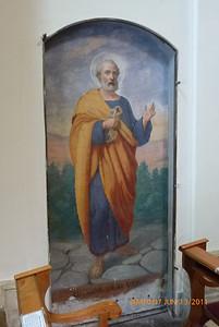 """Fresco of Peter in """"Quo Vadis"""" church"""