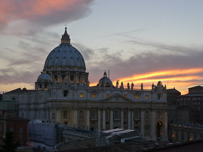 Sunset at St. Peter's Monday night.