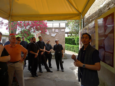 Our guide for the tour of the catacombs.