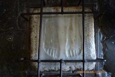 "Imprints of the feet of Jesus at ""Quo vadis"" Church"