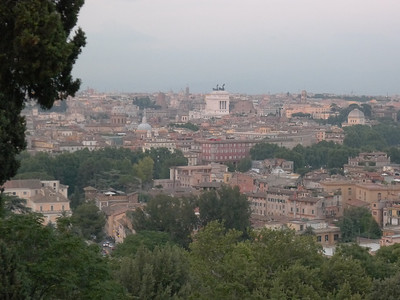 View of Rome from Geniculan Hill at dusk