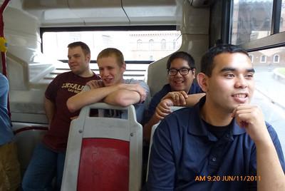 Bryan, Danny, Raj and Jeremy heading to Nettuno.