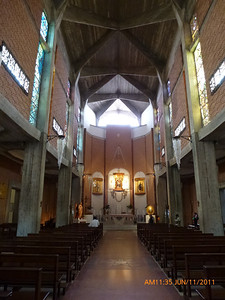 Rather modern interior of basilica.