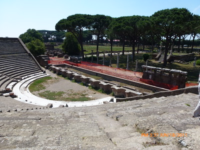The amphitheater, a temple over on right,