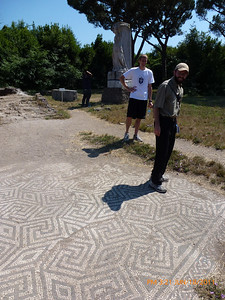 Another amazing mosaic floor.  Danny and Nathan.