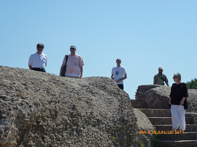 Ron, Steve, Danny and Nathan at top of amphitheater.