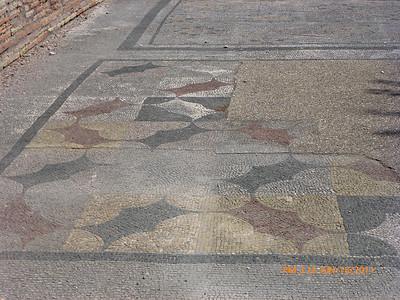 Floor mosaic has lasted 2000 years!!