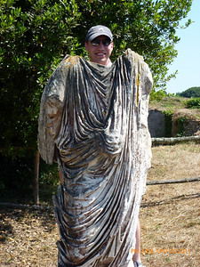 Steve's toga needs cleaning.