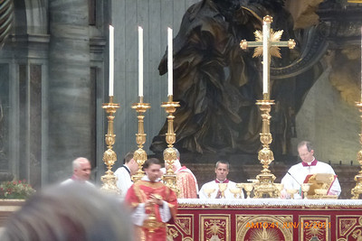 The deacon is about to incense the assembly.