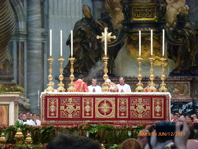 Holy Father incenses the altar
