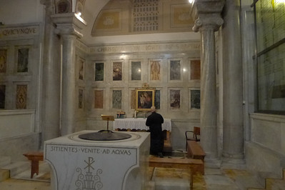 Baptistry of St. Paul-outside-the-wall where we had Mass