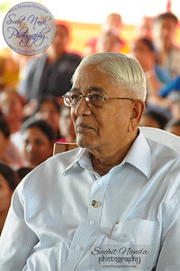 Rev. Master listening to a talk at SMSF Retreat Center, Panshet. Photos taken at Sahaj Marg Spirituality Foundation Retreat Center at Panshet, near Pune, Maharashta. India. March 2009.
