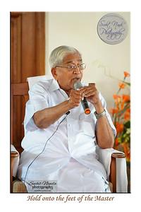 Rev. Master giving a talk at SMSF Retreat Center, Panshet. Photos taken at Sahaj Marg Spirituality Foundation Retreat Center at Panshet, near Pune, Maharashta. India. March 2009.