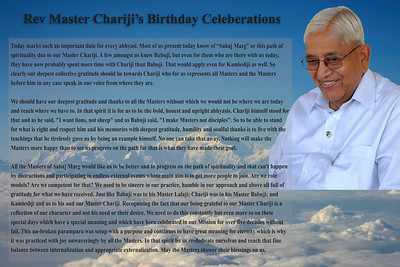 Rev Master Chariji's Birthday Celeberations