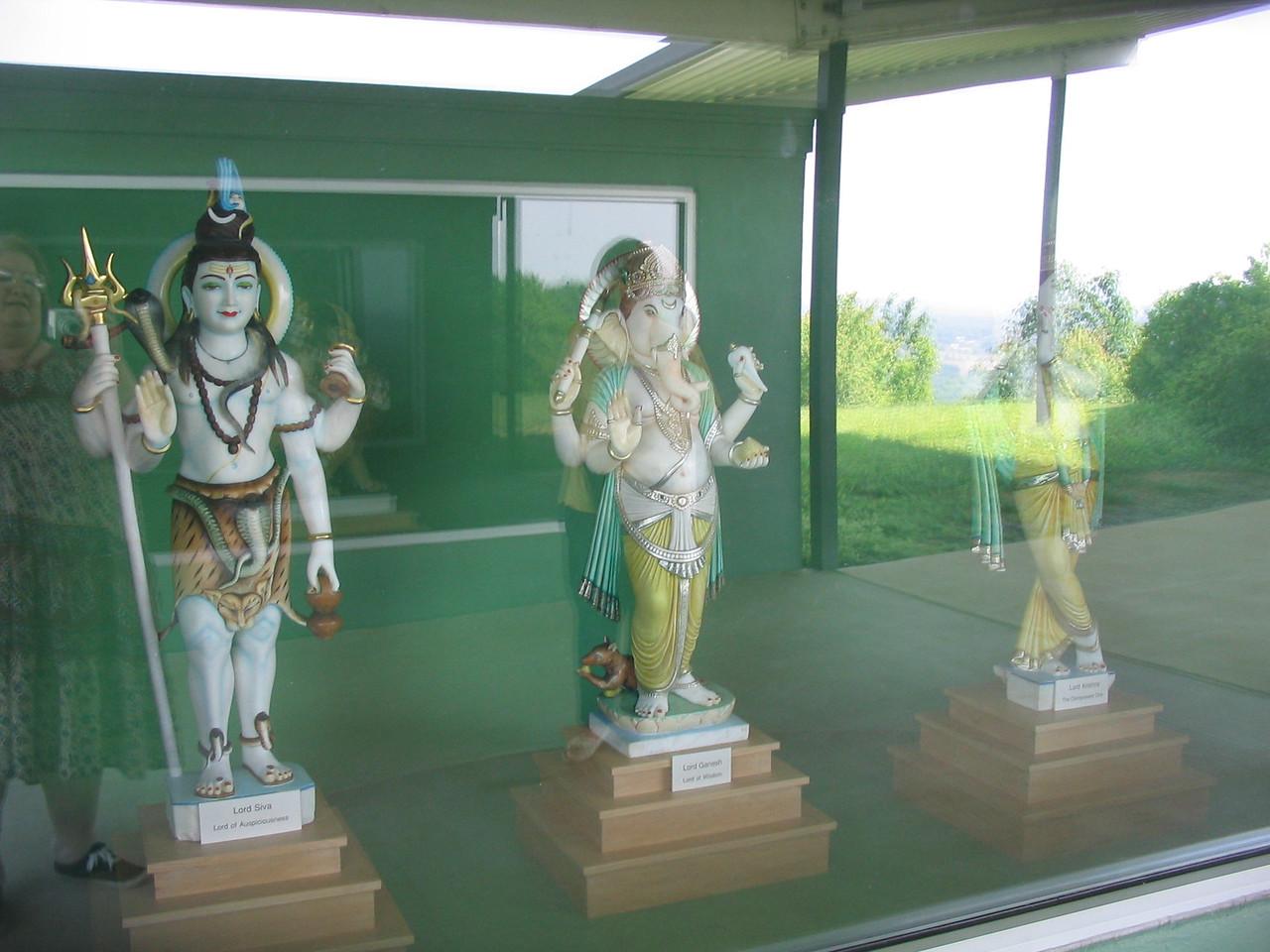 """Lt to Rt: Lord Siva (as Shankara), Lord Sri Ganesha, Sri Lord Krishna.   <a href=""""http://www.Yogaville.org"""">http://www.Yogaville.org</a>"""