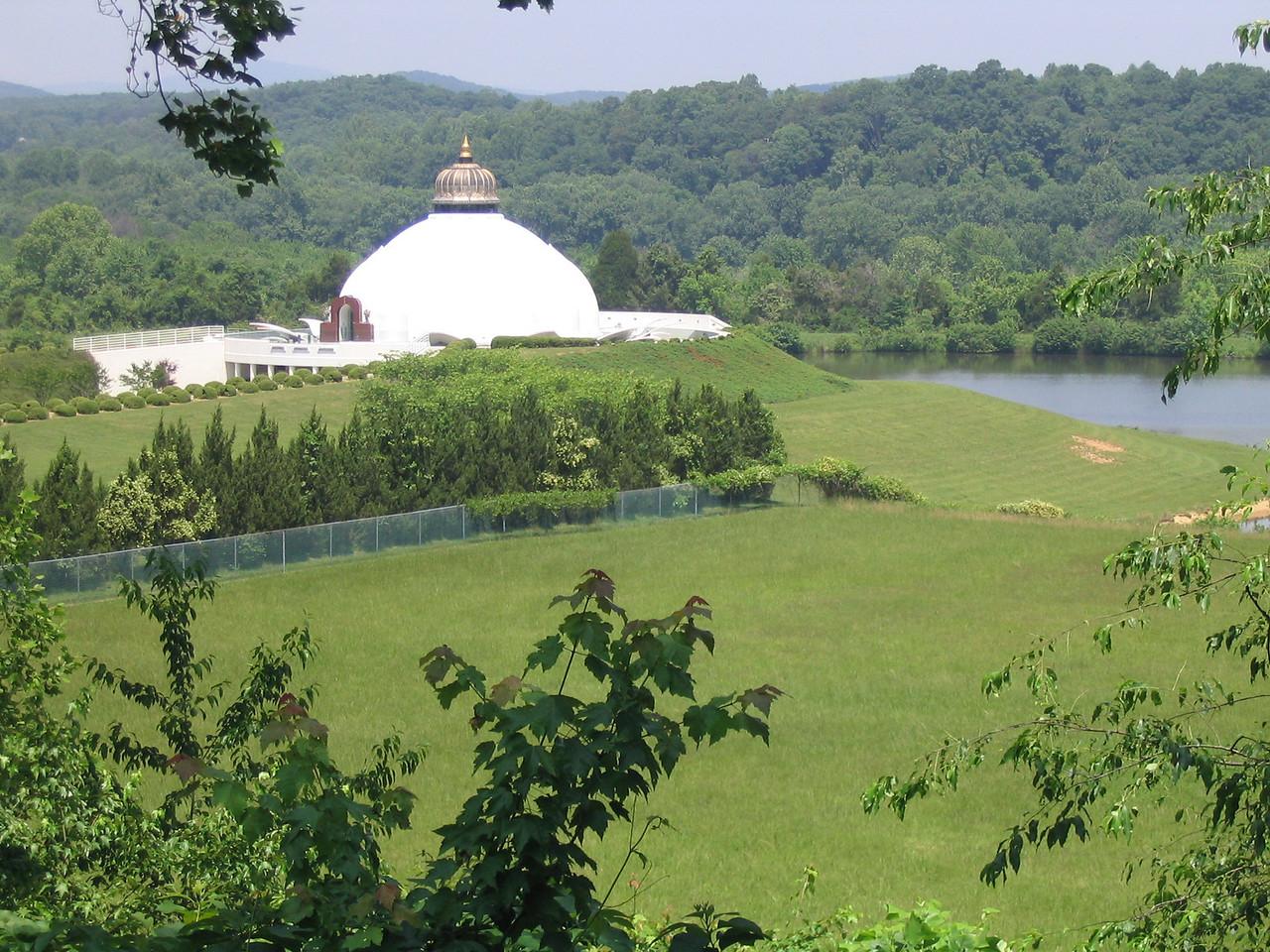 Closer view of LOTUS in Yogaville, Buckingham, VA.