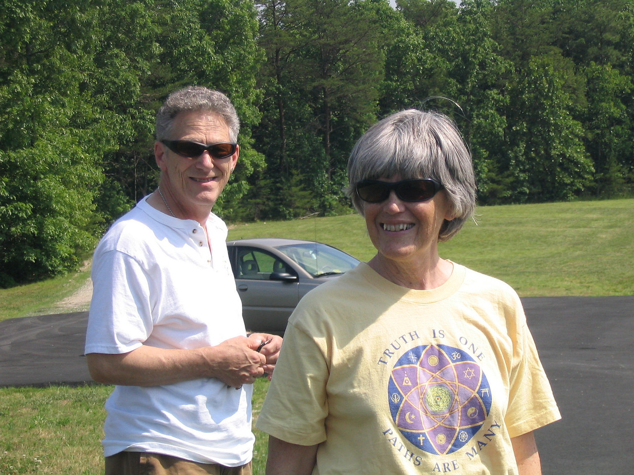 Bonnie and William Osborn at Yogaville, VA.  May 2006.