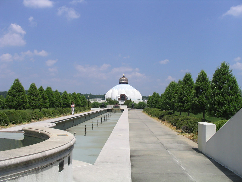 View of the water fountains in front of the LOTUS....May 2006.