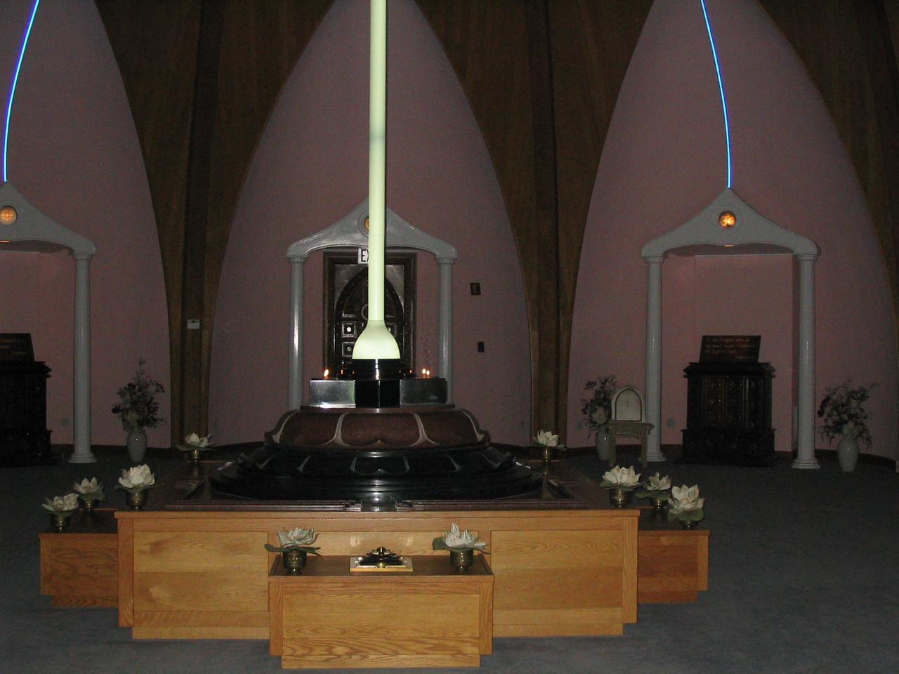 The Central Light of all Faiths.  LOTUS, Yogaville, Buckingham, VA.