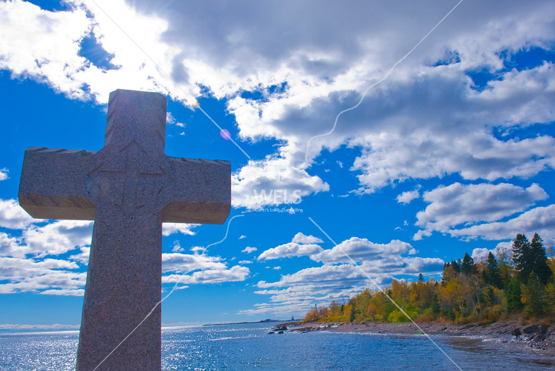 Cross on Lake Superior by wpekrul