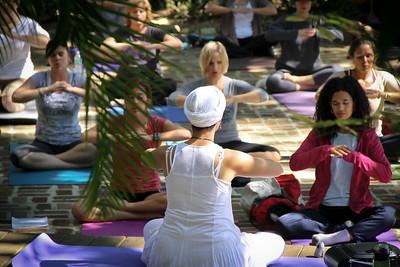 St Pete Yoga Festival, Sunken Gardens, Sunday J 10 23 2011