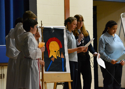 Students Follow the Stations of the Cross (3.24.16)