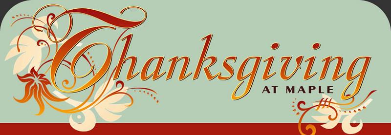 Thanksgiving @ Maple School - Nov 26, 2009