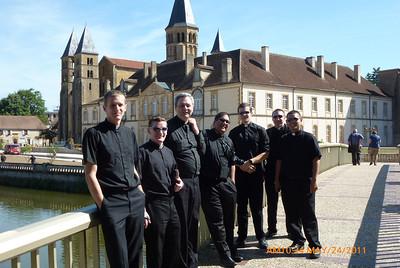 Danny, Kurt, Fr. Jerome, Raj, Ryan. Stephen, Jeremy