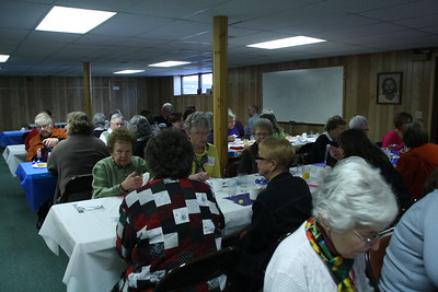 LWML Spring Rally-4-5-2014 - Guests enjoying a breakfast luncheon.