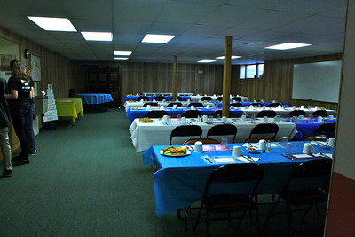 LWML Spring Rally-4-5-2014   Setup of room.