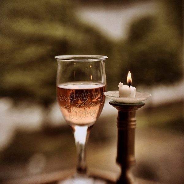 I slowly sip your words ... in the end the glass is empty ...