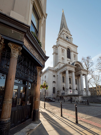 Christ Church Spitalfields and Ten Bell Public House