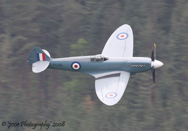 PS915 (BBMF) Spitfire PR XIX - 16th May 2008.