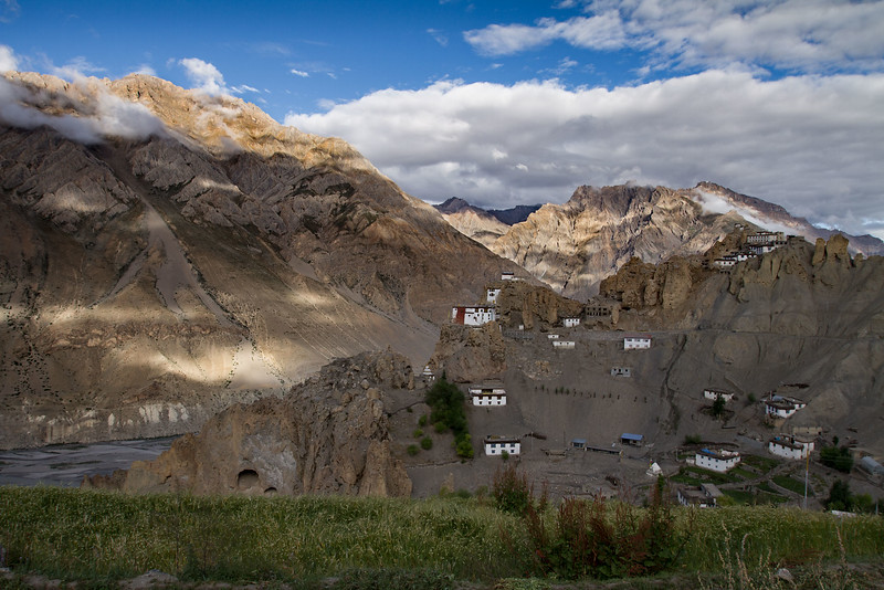 Dhankar monastery and village (Spiti).