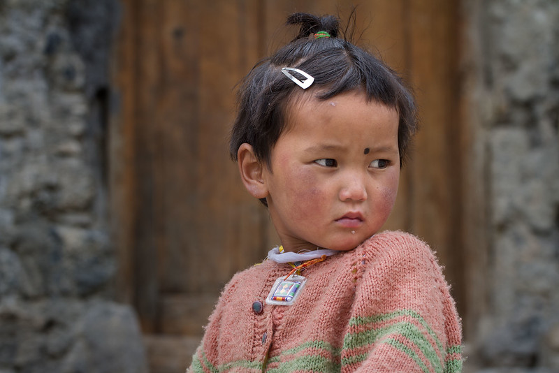 Girl. Dhankar village (Spiti).